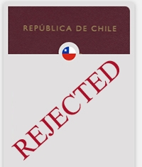 rejected passport Chile